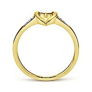 14k Yellow Gold Contemporary Midi Ladies' Ring