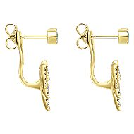 14k Yellow Gold Contemporary Peek A Boo Earrings