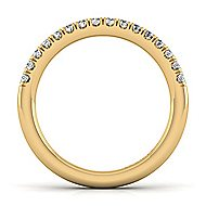 14k Yellow Gold Contemporary Straight Wedding Band