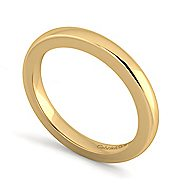 14k Yellow Gold Contemporary Straight Wedding Band angle 3