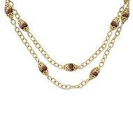 14k Yellow Gold Endless Diamonds Station Necklace angle 1