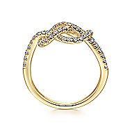14k Yellow Gold Eternal Love Twisted Ladies' Ring