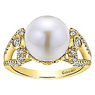 14k Yellow Gold Grace Fashion Ladies' Ring angle 4