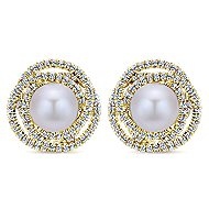 14k Yellow Gold Grace Stud Earrings