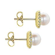 14k Yellow Gold Grace Stud Earrings angle 3