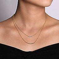 14k Yellow Gold Hampton Bar Necklace