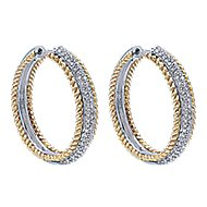 14k Yellow Gold Hampton Classic Hoop Earrings