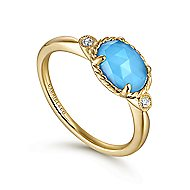 14k Yellow Gold Hampton Fashion Ladies Ring