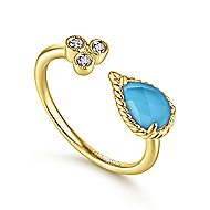 14k Yellow Gold Hampton Fashion Ladies' Ring angle 3