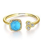 14k Yellow Gold Hampton Fashion Ladies' Ring angle 1