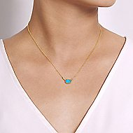 14k Yellow Gold Hampton Fashion Necklace angle 3
