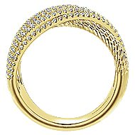 14k Yellow Gold Hampton Twisted Ladies' Ring angle 2