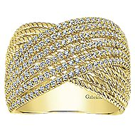 14k Yellow Gold Hampton Twisted Ladies' Ring angle 4