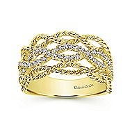 14k Yellow Gold Hampton Wide Band Ladies' Ring