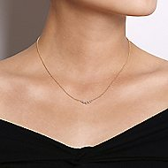14k Yellow Gold Indulgence Bar Necklace angle 3