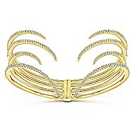 14k Yellow Gold Kaslique Bangle angle 1