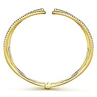 14k Yellow Gold Kaslique Bangle angle 3