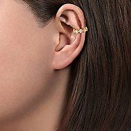 14k Yellow Gold Kaslique Earcuffs Earrings