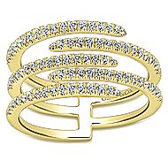 14k Yellow Gold Kaslique Fashion Ladies' Ring angle 4