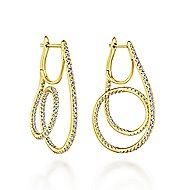 14k Yellow Gold Kaslique Intricate Hoop Earrings angle 1