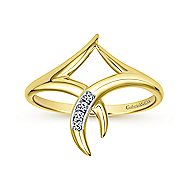 14k Yellow Gold Kaslique Midi Ladies' Ring angle 4