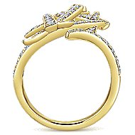 14k Yellow Gold Kaslique Statement Ladies' Ring angle 2