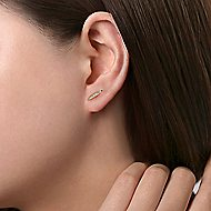 14k Yellow Gold Kaslique Stud Earrings angle 2