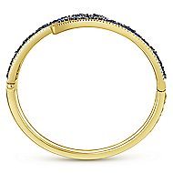 14k Yellow Gold Lusso Color Bangle