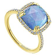 14k Yellow Gold Lusso Color Classic Ladies' Ring
