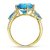 14k Yellow Gold Lusso Color Classic Ladies' Ring angle 2