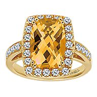 14k Yellow Gold Lusso Color Classic Ladies' Ring angle 4