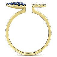 14k Yellow Gold Lusso Color Fashion Ladies' Ring angle 2