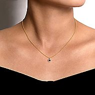 14k Yellow Gold Lusso Color Fashion Necklace angle 3