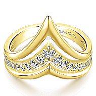 14k Yellow Gold Lusso Diamond Fashion Ladies' Ring angle 1