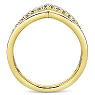 14k Yellow Gold Lusso Diamond Fashion Ladies' Ring angle 2