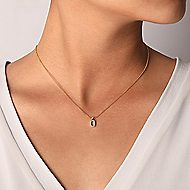 14k Yellow Gold Lusso Fashion Necklace angle 3