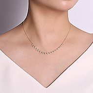14k Yellow Gold Lusso Fashion Necklace