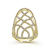 14k Yellow Gold Lusso Statement Ladies' Ring