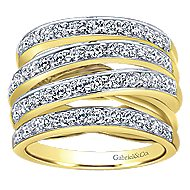 14k Yellow Gold Lusso Twisted Ladies' Ring angle 4