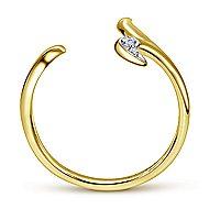 14k Yellow Gold Midi Ladies' Ring angle 2
