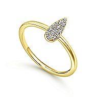 14k Yellow Gold Midi Ladies' Ring angle 3