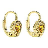 14k Yellow Gold Secret Garden Drop Earrings angle 2