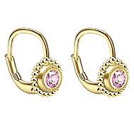 14k Yellow Gold Secret Garden Drop Earrings angle 2