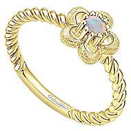 14k Yellow Gold Secret Garden Fashion Ladies' Ring angle 3