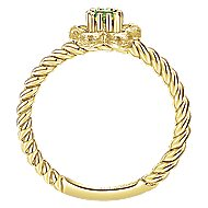 14k Yellow Gold Secret Garden Fashion Ladies' Ring angle 2