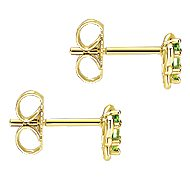 14k Yellow Gold Secret Garden Stud Earrings angle 3