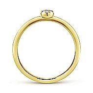14k Yellow Gold Silk Midi Ladies' Ring angle 2
