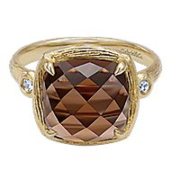 14k Yellow Gold Souviens Classic Ladies' Ring angle 1