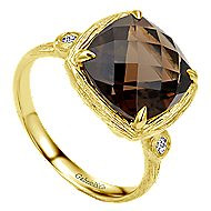 14k Yellow Gold Souviens Classic Ladies' Ring angle 3