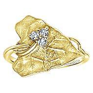 14k Yellow Gold Souviens Fashion Ladies' Ring angle 4